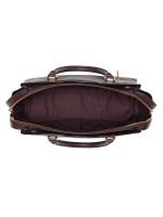 COACH 40862 Mixed Leather Drew Satchel Oxblood