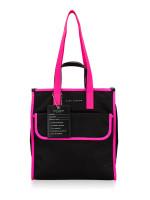 MARC JACOBS M0014427 Nylon Tote Bag Black Pink