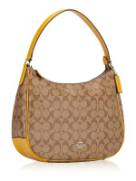 COACH 29209 Signature Zip Shoulder Bag Khaki Flax