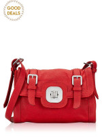 LONGCHAMP Gatsby Leather Crossbody Bag Vermilion
