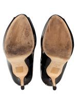 DIOR Miss Dior Patent Pump Noir Sz 38.5