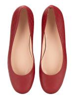 GUCCI Micro Guccissima Leather Flats Red Sz 36.5