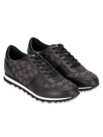 COACH Signature Runner Low Top Sneakers Black Smoke Sz 8.5