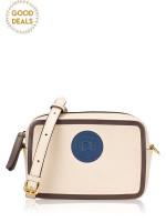 FENDI Leather Mini Camera Bag Beige