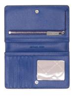MICHAEL KORS Jet Set Travel Leather Slim Bifold Wallet Sapphire