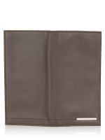 SALVATORE FERRAGAMO Men Giacomo Leather Long Wallet Grey