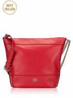 COACH 72692 Paxton Leather Duffle Bright Cardinal