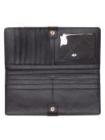 MICHAEL KORS Jet Set Saffiano Flat Slim Bifold Wallet Black