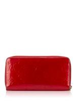 LOUIS VUITTON Monogram Vernis Zippy Wallet Pomme D\'Amour