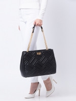 MICHAEL KORS Peyton Leather Large Convertible Tote Black