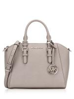 MICHAEL KORS Ciara Medium Messenger Pearl Grey