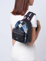 COACH 72771 Americana Patchwork Mini Charlie Backpack Denim Multi