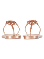 TORY BURCH Mini Miller Jelly Thong Rose Gold Sz 9
