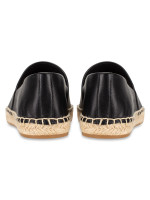 TORY BURCH Colorblock Mixed Leather Espadrille Perfect Black Sz 7