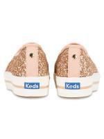 KEDS X Kate Spade Triple Decker Glitter Rose Gold Sz 9