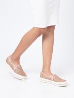 KEDS X Kate Spade Triple Decker Glitter Rose Gold Sz 8
