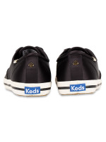 KEDS X Kate Spade Champion Leather Satin Black Sz 7.5