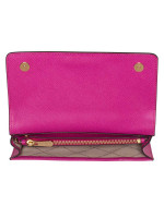MICHAEL KORS Jet Set Travel 3 In 1 Wristlet Clutch Crossbody Fuschia