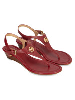 MICHAEL KORS Ramona Leather Sandal Burnt Red Sz 8