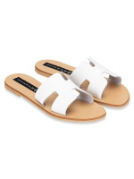 STEVE MADDEN Greece Leather Slide Sandal White Sz 6