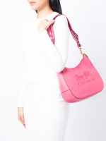 COACH 72702 Jes Leather Hobo Pink Ruby