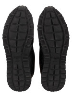 FENDI Men Leather Lace-Up Bag Bugs Sneakers Black Sz 7