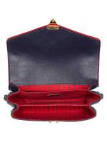 LOUIS VUITTON Monogram Empreinte Pochette Metis Marine Rouge