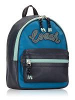 COACH 76647 Vale Leather Medium Charlie Backpack Cerulean Multi