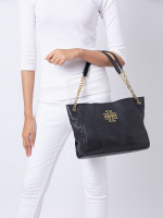 TORY BURCH Britten Small Slouchy Tote Black