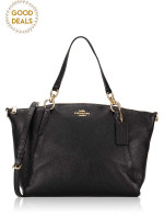 COACH 28993 Pebble Leather Small Kelsey Black
