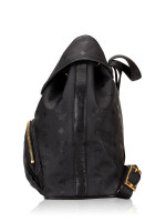 MCM Vintage Monogram Backpack Black