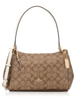 COACH 73177 Signature Small Mia Shoulder Bag Khaki Chalk