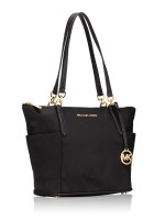 MICHAEL KORS Bedford Nylon Large East West Top Zip Tote Black