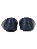 MICHAEL KORS Fulton Leather Flats Navy Gold Sz 8.5