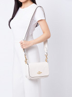 COACH 76698 Jess Leather Small Messenger Chalk