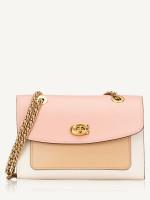 COACH 26851 Colorblock Leather Parker Shoulder Bag Peony Multi