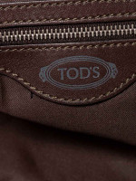 TOD'S G-Line Coated Canvas Easy Sacca Media Green
