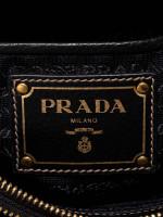 PRADA 1BH046 Logo Jacquard Crossbody Nero Black