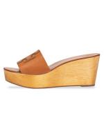 TORY BURCH Ines Wedge Sandals Tan Sz 8.5