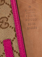 GUCCI Monogram Interlocking G Belt Beige Fuchsia