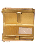 MICHAEL KORS Jet Set Travel Double Zip Wristlet Old Gold