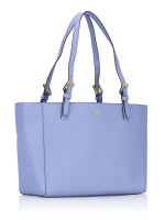 TORY BURCH Emerson Small Buckle Tote Bow Blue