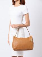 COACH 28966 Pebbled Leather Mia Shoulder Bag Light Saddle