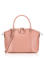 GUCCI Micro Guccissima Large Dome Satchel Pink