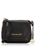 MICHAEL KORS Bedford Small Leather Flap Crossbody Black