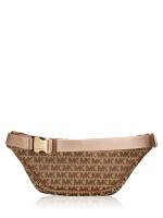 MICHAEL KORS Kenly Monogram Waist Pack Beige Ebony Luggage