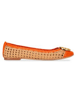 TORY BURCH Chelsea Woven Leather Flat Pomander Sz 7.5