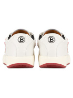 BALLY Men New Competition Sneakers White Red Sz 40.5