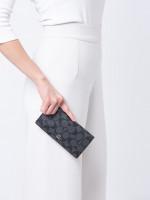 COACH 88026 Signature Bifold Wallet Black Smoke