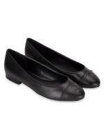 MICHAEL KORS Dylyn Leather Slip On Ballet Black Sz 9